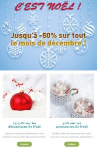 SendInBlue propose des templates spécial Noël