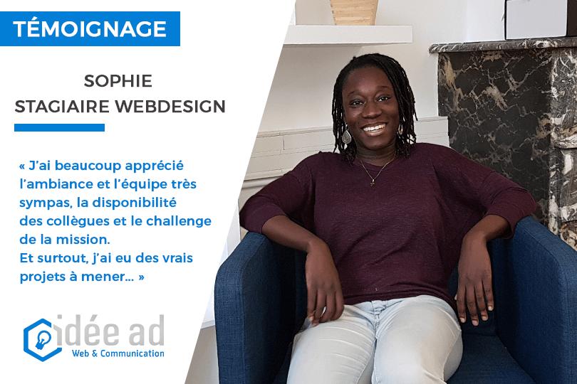 Sophie, notre stagiaire en webdesign : «On apprend plein de trucs, les collègues sont sympas, et surtout, on ne s'ennuie pas !»