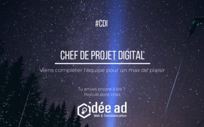 Idée Ad recrute un(e) Chef de projet digital