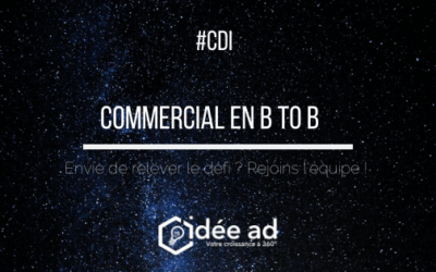 Idée Ad recrute un commercial en B to B